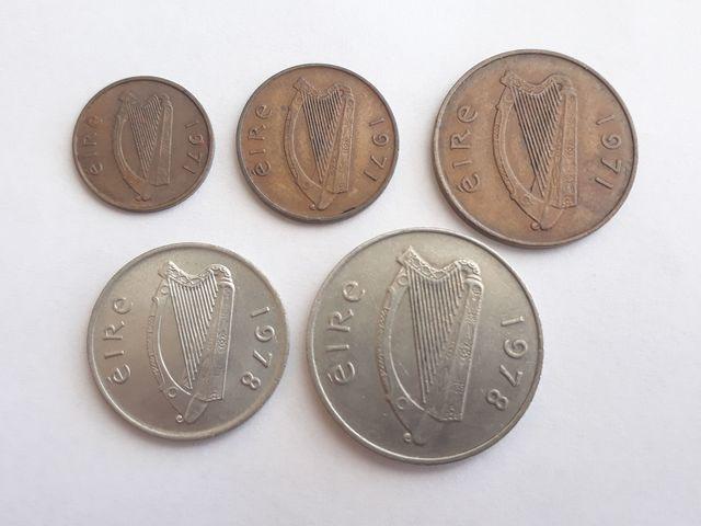5 Monedas Irlanda Antes Del Euro