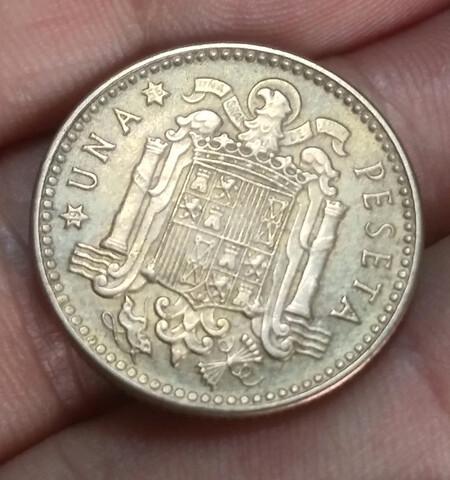 Moneda 1 Peseta 1953 Estrella 54 Franco