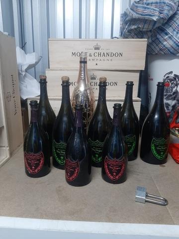 Colección, Botellas Vacías Y Cajas