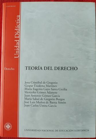 MANUAL TEORÍA DEL DERECHO,  UNED.  - foto 1