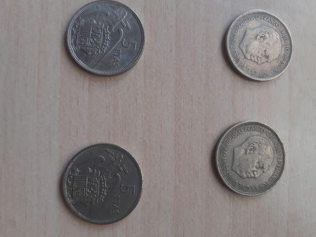 Monedas De Franco De 5 Pesetas De 1957