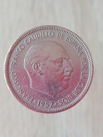 5 Pesetas 1957. 7 Monedas