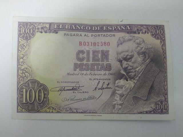Billete 100 Pesetas 1946 Goya