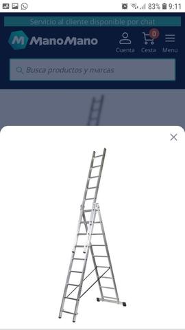 Escalera Aluminio 3 Hojas