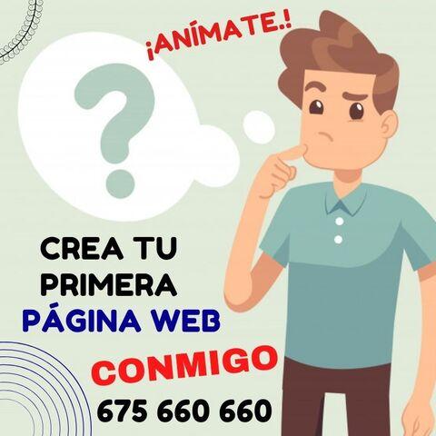 ¡CREA TU PRIMERA PÁGINA WEB CONMIGO! - foto 1