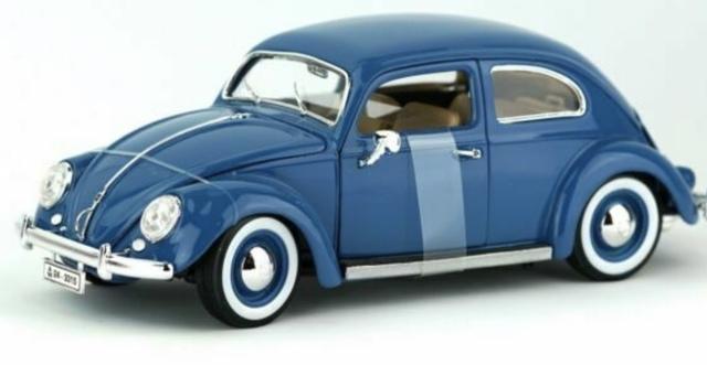 VW Gol volkswagen sudamérica azul-blanco 1:43 atlas maqueta de coche