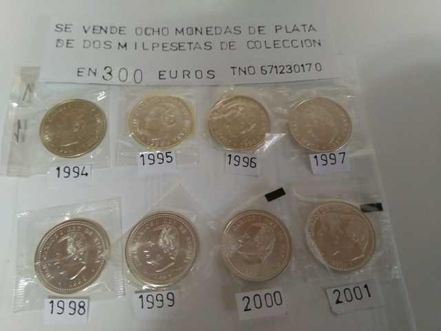 Monedas De Plata De 2000 Pesetas
