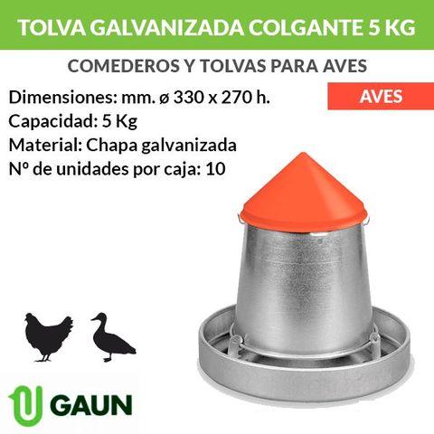 Tolva De Chapa Galvanizada Colgante 5 Kg