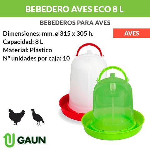 Bebedero Eco Para Aves 8 Litros