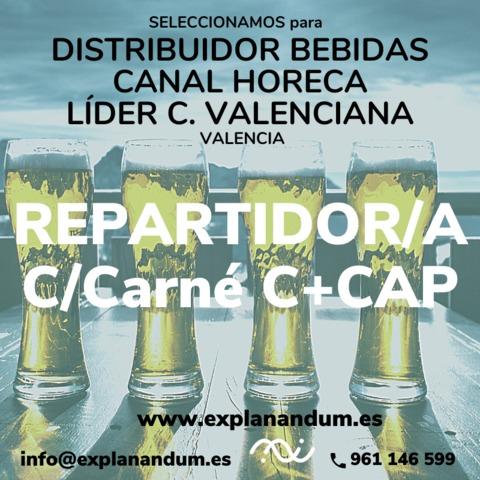 REPARTIDOR/A CARNÉ C+CAP - foto 1