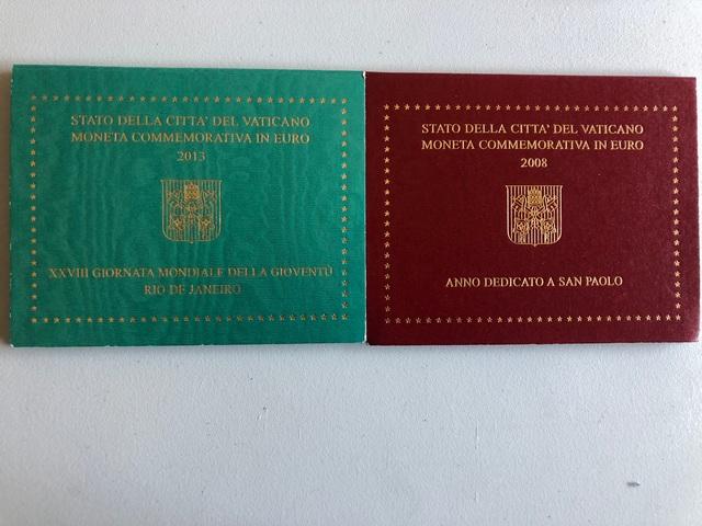 Monedas Vaticano 2008 Y 2013