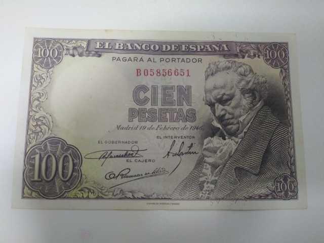 Billete 100 Pesetas Goya 1946