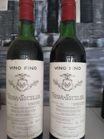 2 Botellas Vega Sicilia Único 1958  1961