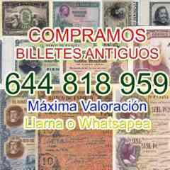 Compramos Billetes Españoles Consulte