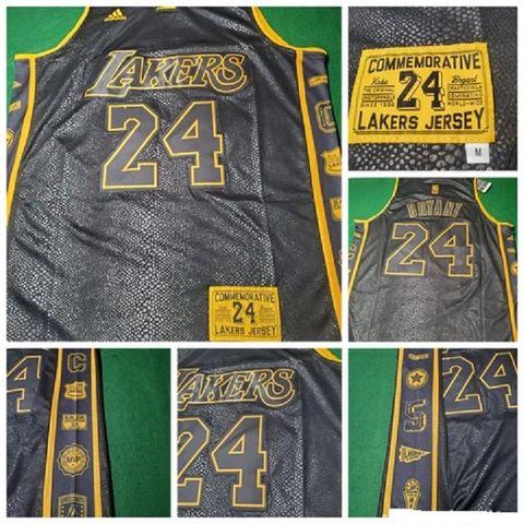 CAMISETA BALONCESTO NBA LAKERS 24 NEGRA - foto 1