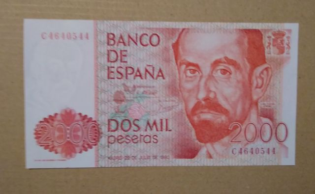 Venta Billete 2000 Pesetas