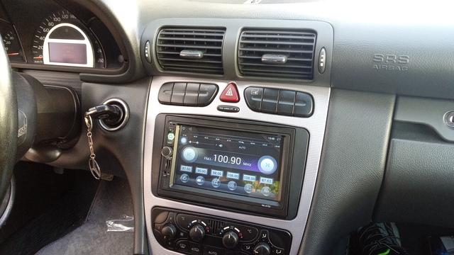 Ford Cougar Coupe escort 5 6 7 Orion auto radio diafragma instalación marco doble DIN