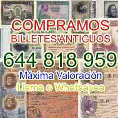 Adquirimos Papel Moneda Tasamos Online