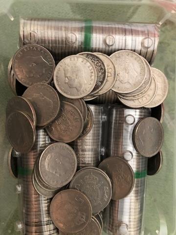 Lote 202 Monedas De 5 Pts Juan Carlos L