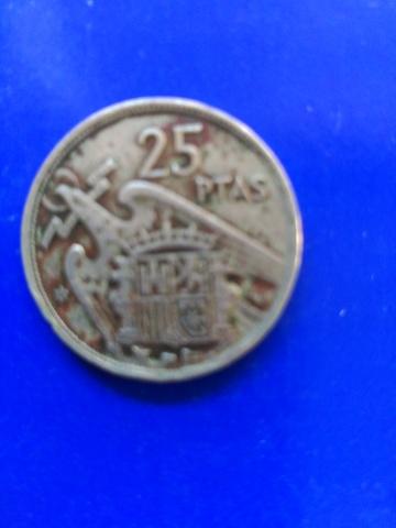 Moneda De 25 Pesetas 1957 Estrella 19/58