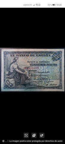 25 Pesetas Año 1906