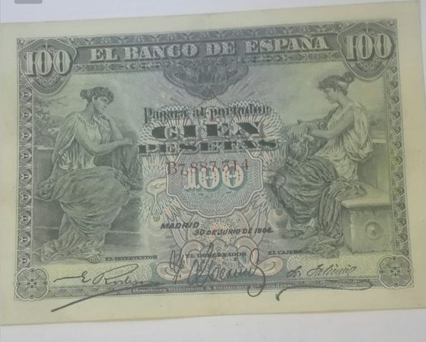 100 Pesetas Año 1906
