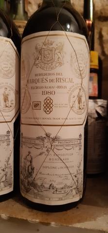 Dos Botellas Marques De Riscal 1980