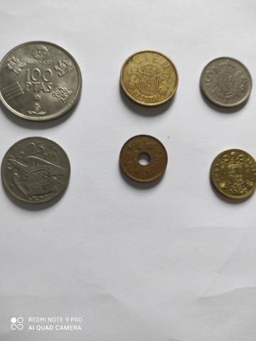 Lote 6 Monedas De Pesetas