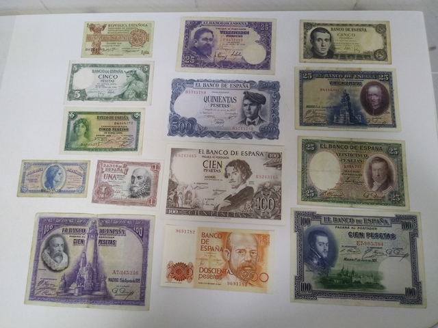 Lote Billetes Antiguos España