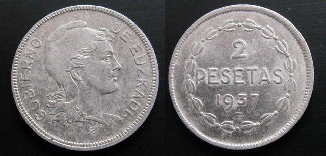 Gobierno De Euzkadi , 2 Pesetas De 1937