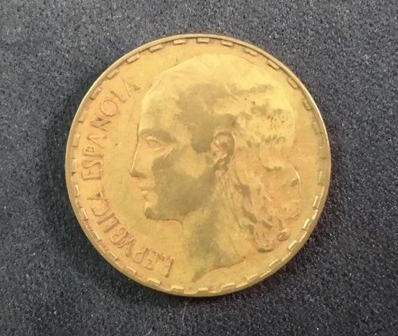 Moneda 1 Peseta 1937 República Española