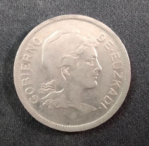 Moneda De 2 Pesetas 1937