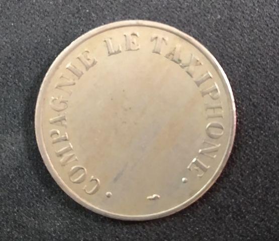 Ficha Telefónica Antigua De Francia