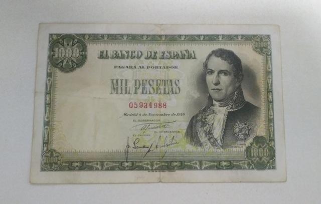 Billete 1000 Pesetas 1949 Santillan