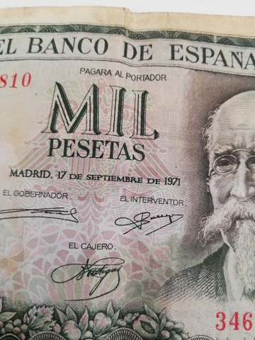 Billete De 1000 Pesetas 1971