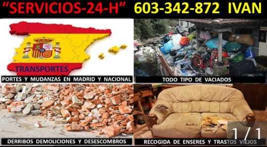 MUDANZAS RECOGIDAS MUEBLES Y ESCOMBROS - foto 1