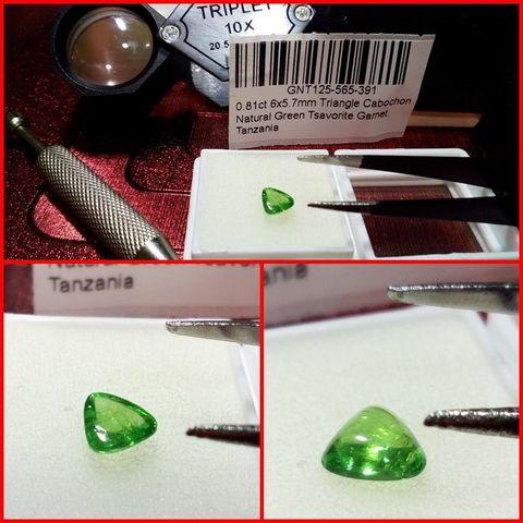 Granate Tsavorita Triangulo 0.81 Cts.