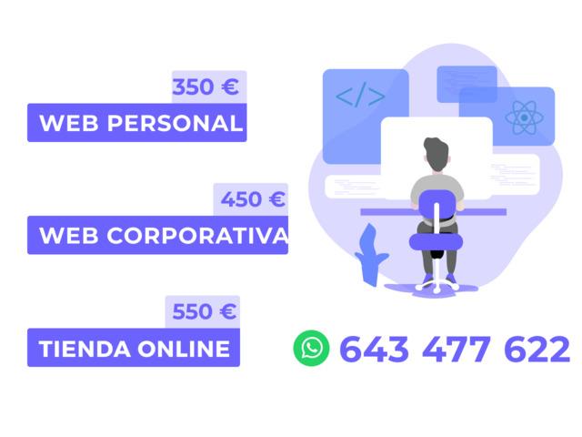 DESARROLLO WEB DESDE 299 EUROS - foto 1
