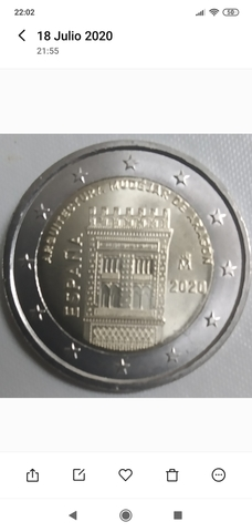 Moneda Conmemorativa De 2  España 2020