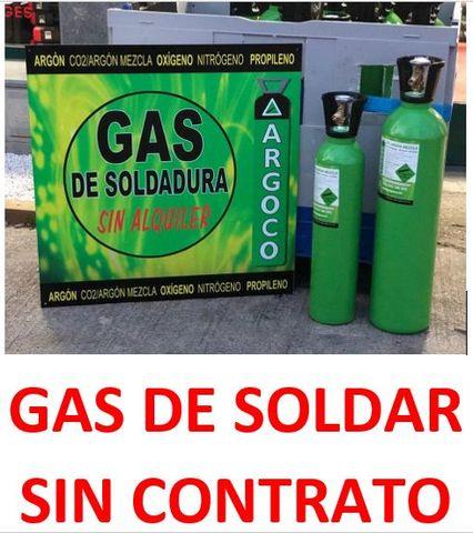 Bombonas Gases De Soldadura Sin Contrato