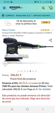 Lijadora Festool