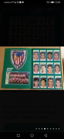 ALBUM CROMOS FÚTBOL,  TEMPORADA 90-91 - foto 2