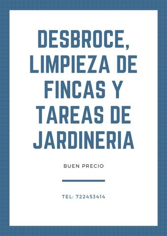 OFREZCO SERVICIOS DESBROCE Y JARDINERIA - foto 1
