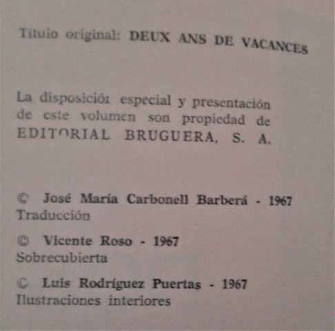 LIBRO DE JULIO VERNE DOS AÑOS DE VACACIO - foto 4