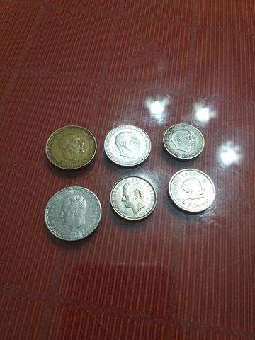 3 Monedas De  Franco  Y Tres Del Rey Emé