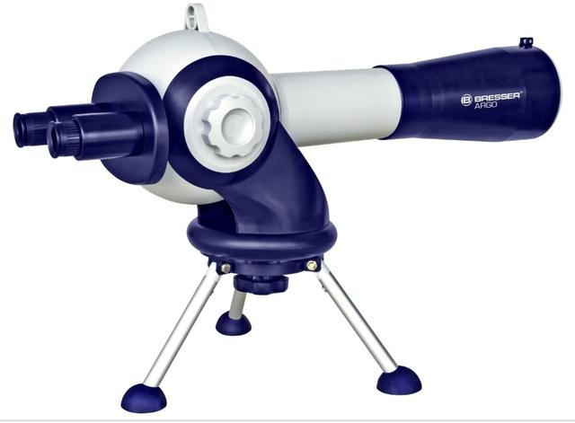 Tele-Microscopio Bresser Azul Y Blanco