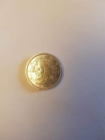 2 Monedas De 2   Italiano Dante 2002