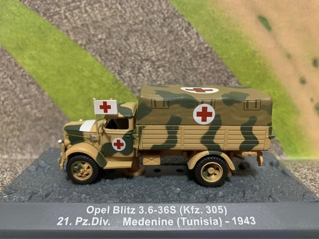 Ambulancia Wwii Opel Blitz Escala 1/72