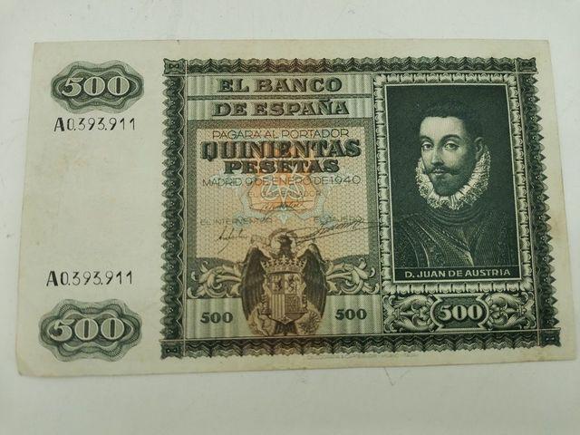 Billete De 500 Pesetas Del Año 1940