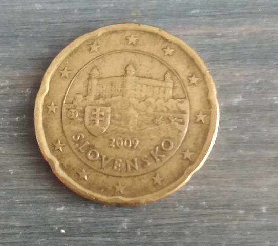 Moneda De 20 Céntimos De Eslovaquia